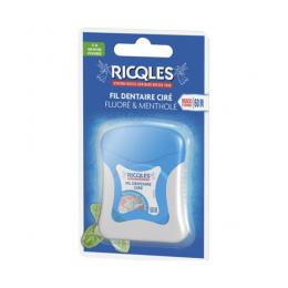 Ricqles fil dentaire ciré fluoré & mentholé - 60M