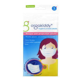 Orgakiddy masques anti-projection blanc boite de 5 masques