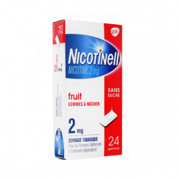 Nicotinell Gomme Fruit 2mg - 24  gommes à mâcher