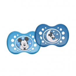 Dodie Sucette Anatomique +18mois Duo nuit Mickey - x2