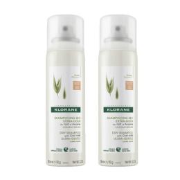 Klorane shampooing sec cheveux châtains à bruns - 2x150ml