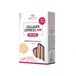 Collagen express Barre chocolat blanc - 6 barres