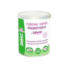 Saforelle Tampon Probiotique compact - x9