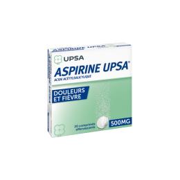 Aspirine UPSA 500mg - 20 comprimés effervescents