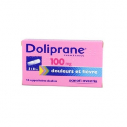 Doliprane 100mg  - x10 suppositoires