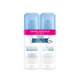 Vichy déodorant minéral 48h anti odeur- 2x125ml