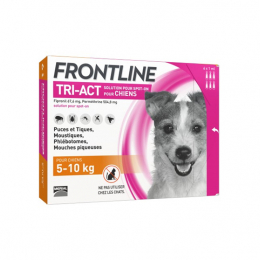 Frontline Tri-act Chien 5-10kg - 6 pipettes