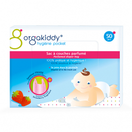 Orgakiddy Sac à couches parfumé (senteur fraise) - 50 sacs