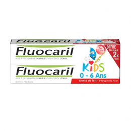 Fluocaril Dentifrice Kids Gel Fraise 50mg - 2x50ml