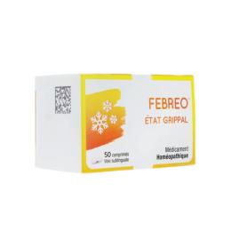 Bausch + Lomb Febreo Etat Grippal Homéopathie - 50 Comprimés