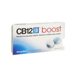 CB12 Gommes à macher Boost Strong Mint  - x10