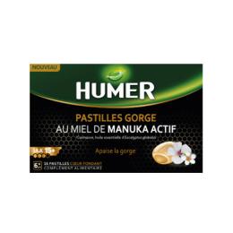 Humer Pastille gorge au Miel de manuka actif - 16 pastilles
