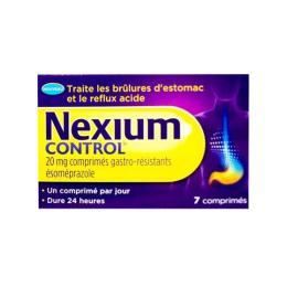 Nexium control brûlure d'estomac - 7 comprimés