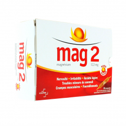 Mag 2 Sans Sucre 122 mg solution buvable 30 ampoules édulcorées de 10ml