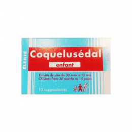 Coquelusedal  suppositoires enfant - x10