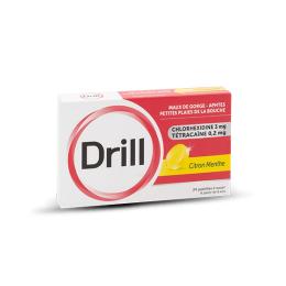 Drill Pastille Citron Menthe - 24 pastilles