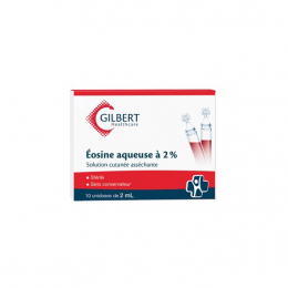 Gilbert Eosine aqueuse à 2% - 10 unidoses de 2ml