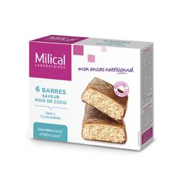 Barres hyperprotéinées saveur noix de coco - 6 barres