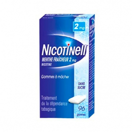 Nicotinell Gomme Menthe 2mg - 96 gommes à mâcher