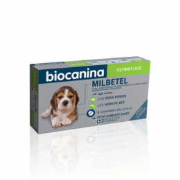 Biocanina Milbetel Petit chien - 2 comrpimés
