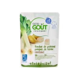 Good Gout Plat BIO Fondue de poireaux pommes de terre cabillaud - 190g