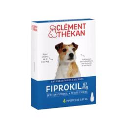 Clément Thékan Fiprokil Petit Chien de 2 à 10kg  - x4 pipettes