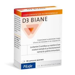 Pileje D3 Biane - 30 capsules
