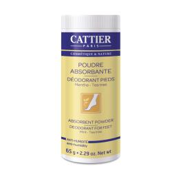 Cattier poudre absorbante déodorant pieds - 65g