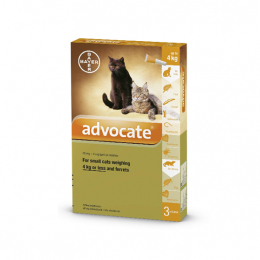Bayer Advocate Petits Chats et furets - 3 Pipettes