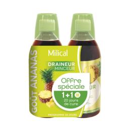 Milical Draineur ananas - 2x500ml