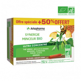 Arkopharma Arkofluides BIO Synergie minceur - 20 ampoules + 10 OFFERTES