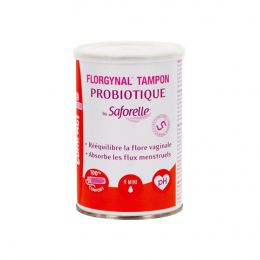 Saforelle Florgynal tampon compact probiotique mini  - x9