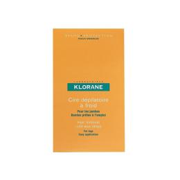 Klorane Bandes de cire froide à l'amande douce - x6