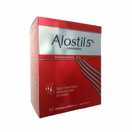 Alostil Minoxidil 5% solution pour application cutanée - 3x60ml