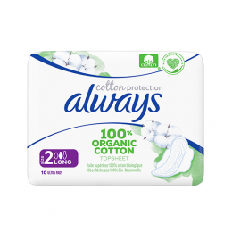 Always Cotton Protection Ultra Long (Taille 2) BIO - 10 serviettes
