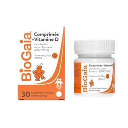 BioGaia comprimés vitamine D 20µg (800 UI) - 30 comprimés