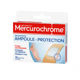 Mercurochrome Pansements ampoule-protection - 10 pansements