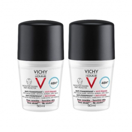 Vichy Déodorant anti-traces bille - 2x50ml