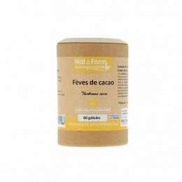 Nat & Form fèves de cacao - 60 gélules