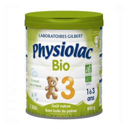 Physiolac lait de croissance bio 1 à 3 ans - 800g