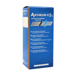 Arthrum H2% - Sodium hyaluronate - x3 seringues
