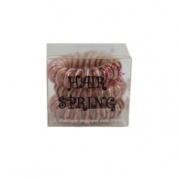 Hair Spring Elastique magique Strawberry Gold Rose - x3