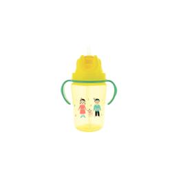 Dodie Tasse paille +18 mois jaune - 350 ml