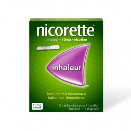 Nicorette Inhaleur 10mg - 6 cartouches + 1 dispositif