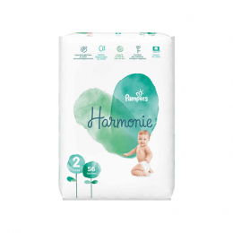 Pampers Harmonie Taille 2 (4-8 kg) - 56 couches