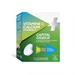Nutrisanté Vitamine C + Calcium - 24 comprimés