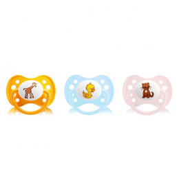 Dodie sucette anatomique silicone duo animaux n°A27 0-6 mois