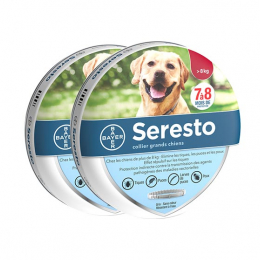 Bayer Seresto Collier anti-puce antiparasitaire Grand chien - 2 colliers