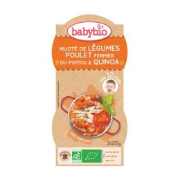 Mijoté de légumes poulet fermier du poitou & quinoa - 2x200g
