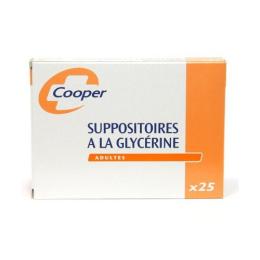 Cooper suppositoire à la glycérine cooper adultes - 25 suppositoires